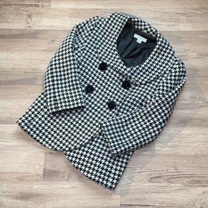 Pendleton houndstooth jacket, black/white, sz 8P